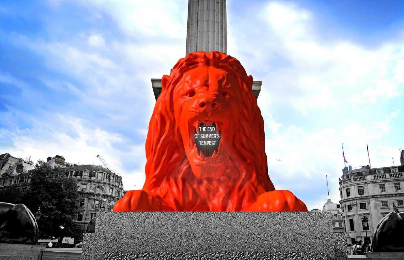 The Trafalgar Square lions are getting a new friend who'll roar poetry at you