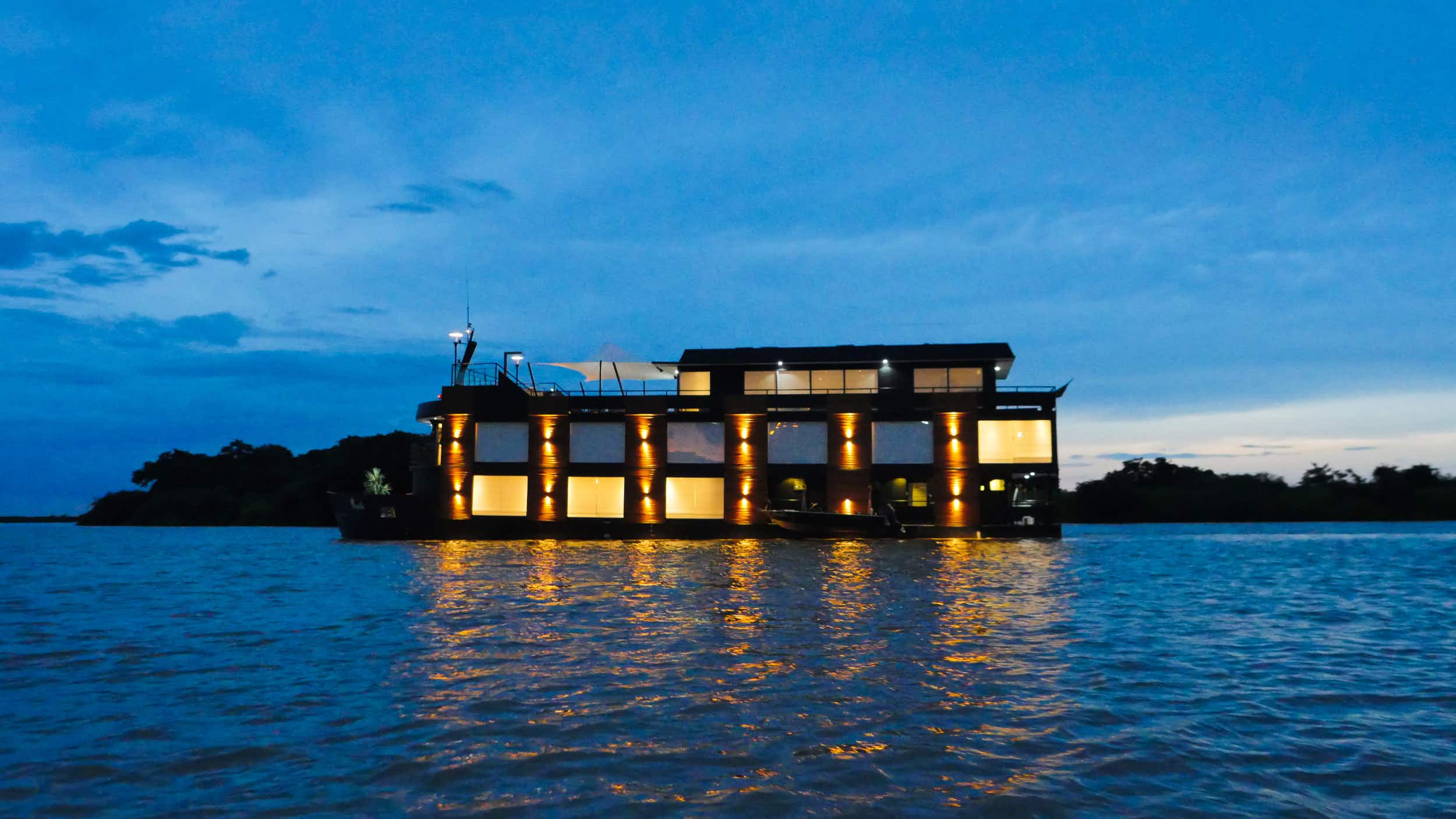 Explore Brazil's wild tropical wetlands from this luxury expedition boat