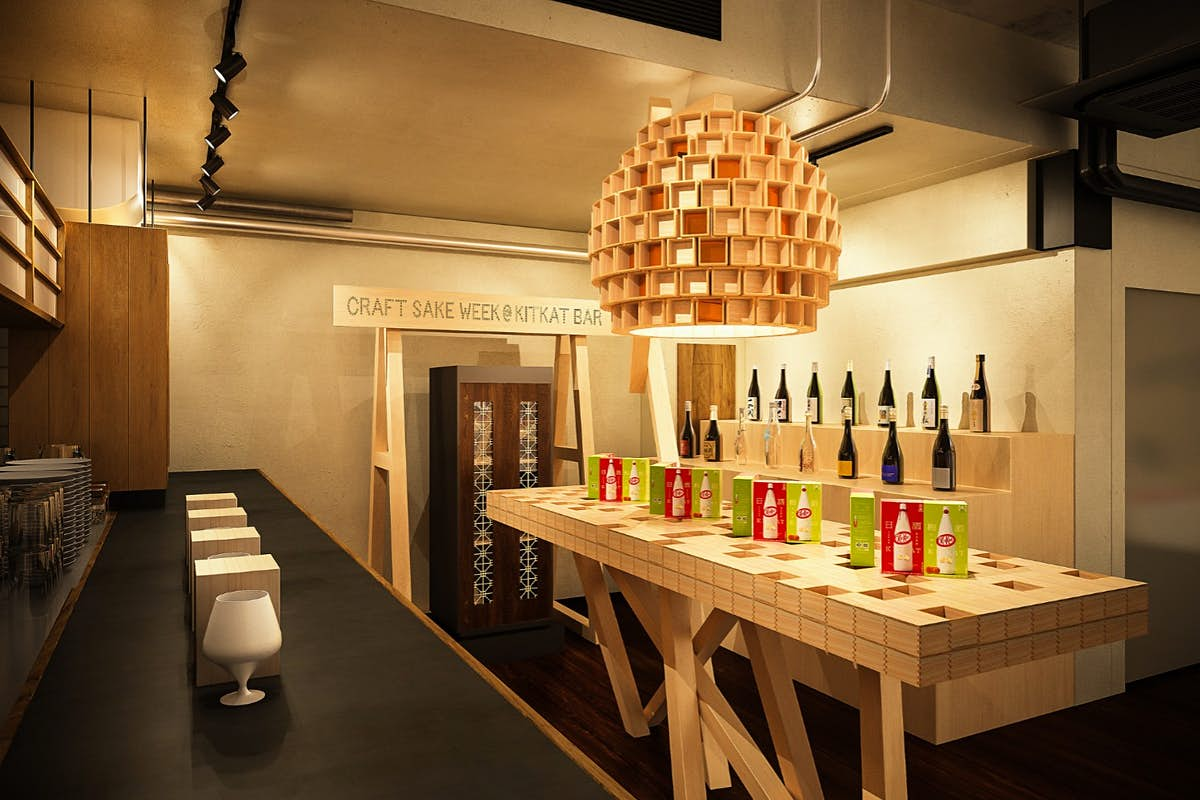 Pair Japanese sake KitKat with cocktails at this pop-up bar