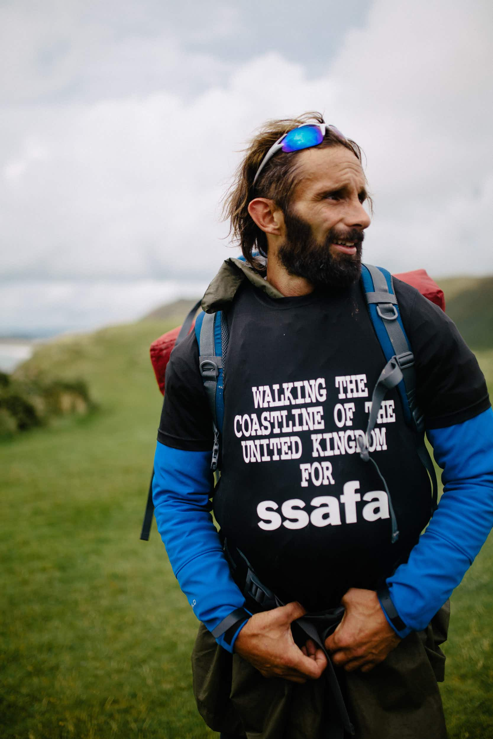 This army veteran is walking the entire coastline of the UK for charity