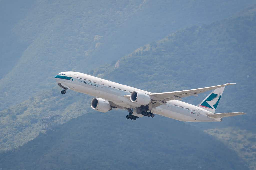 For F sake...Cathay Pacific makes giant spelling error on side of plane