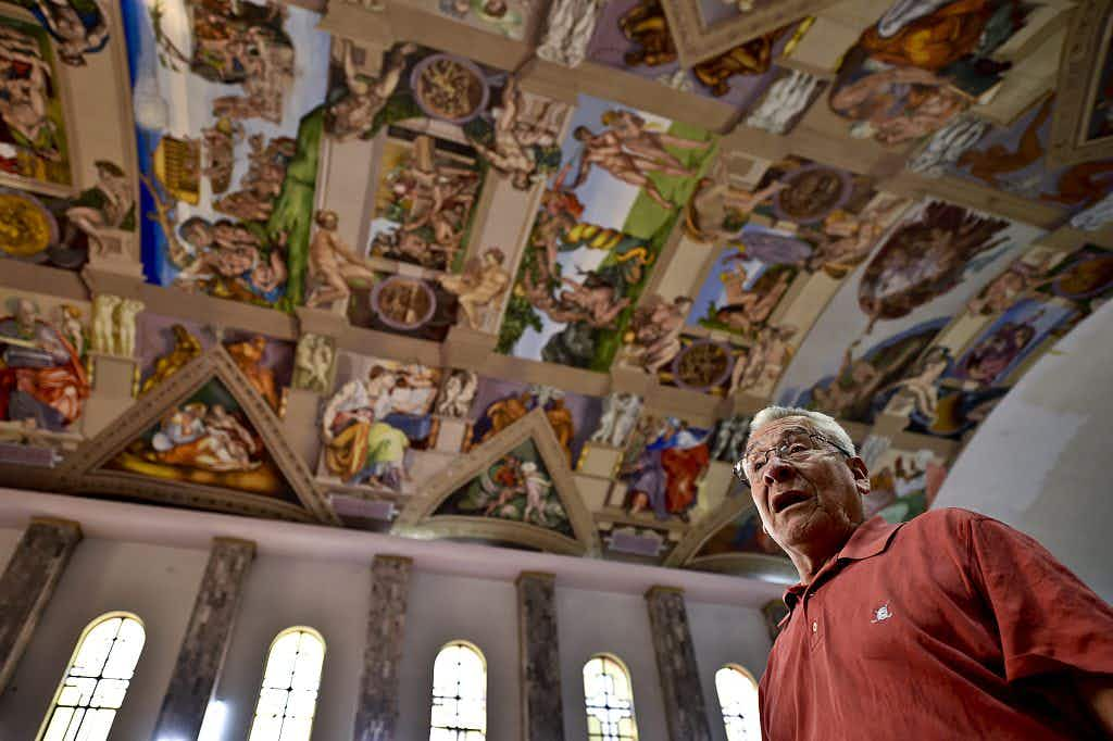 Michelangelo's Sistine Chapel has been lovingly replicated in Mexico