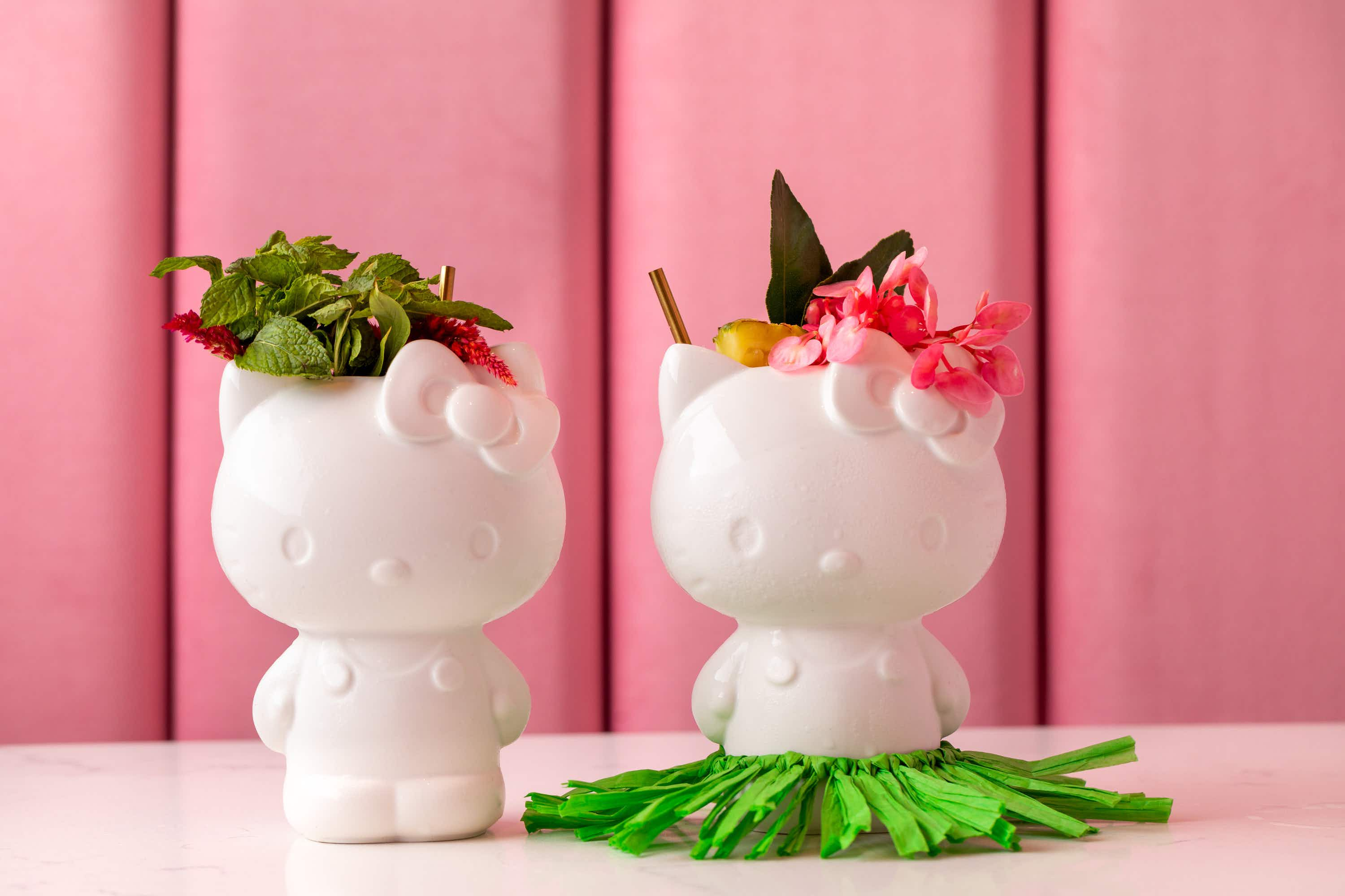 Sip an adorable Hello Kitty cocktail at this new café in California