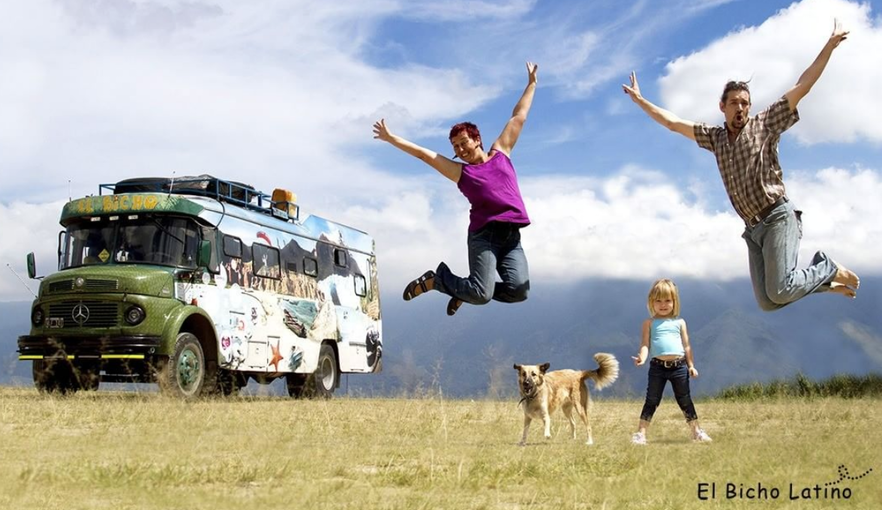 Meet the family travelling through Latin America by bus for 12 years