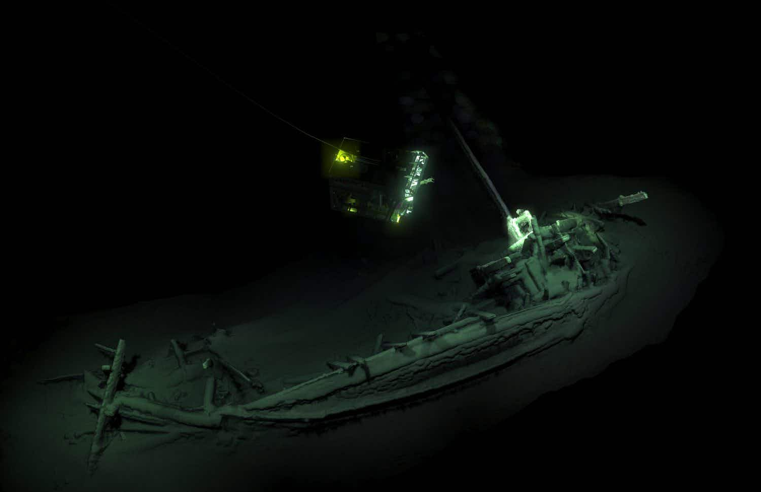 A 2400-year-old shipwreck has been found intact in the Black Sea