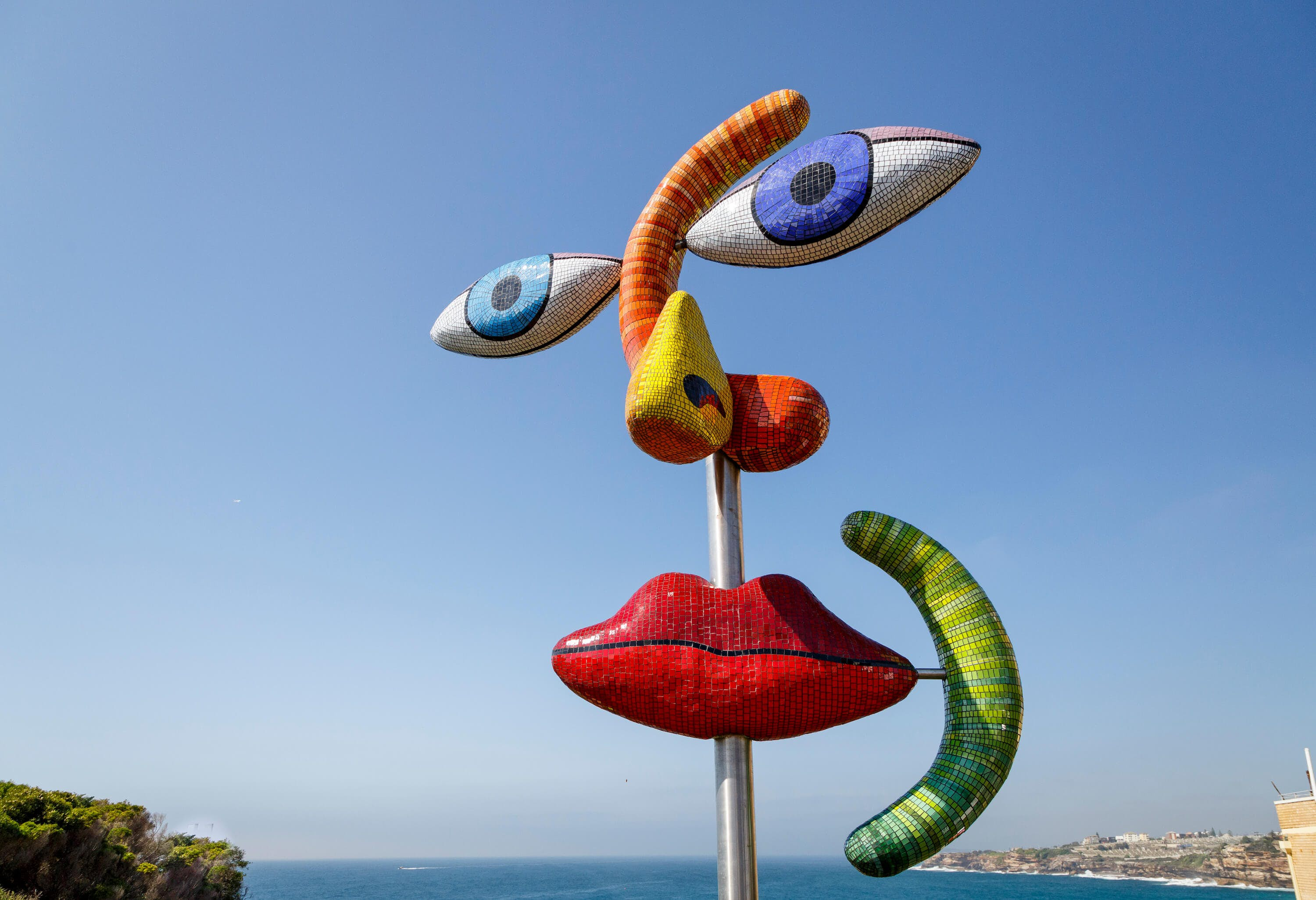 The Face by Deborah Halpern is one of the pieces on display on Bondi Beach. Image by Jessica Wyld
