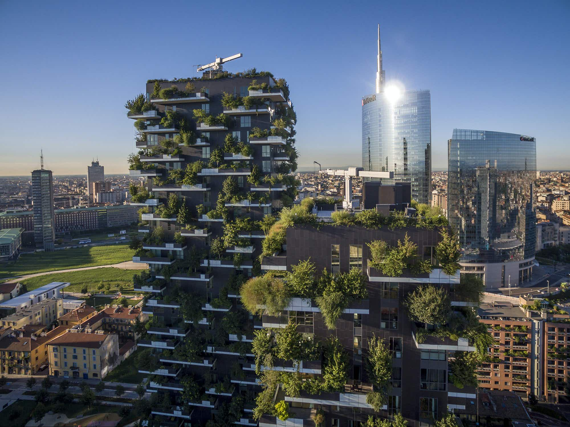 Milan's high-rise Vertical Forest takes root