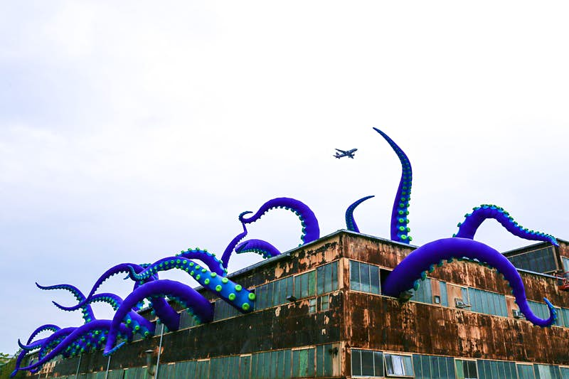 Check out this sea monster escaping from a building in Philadelphia