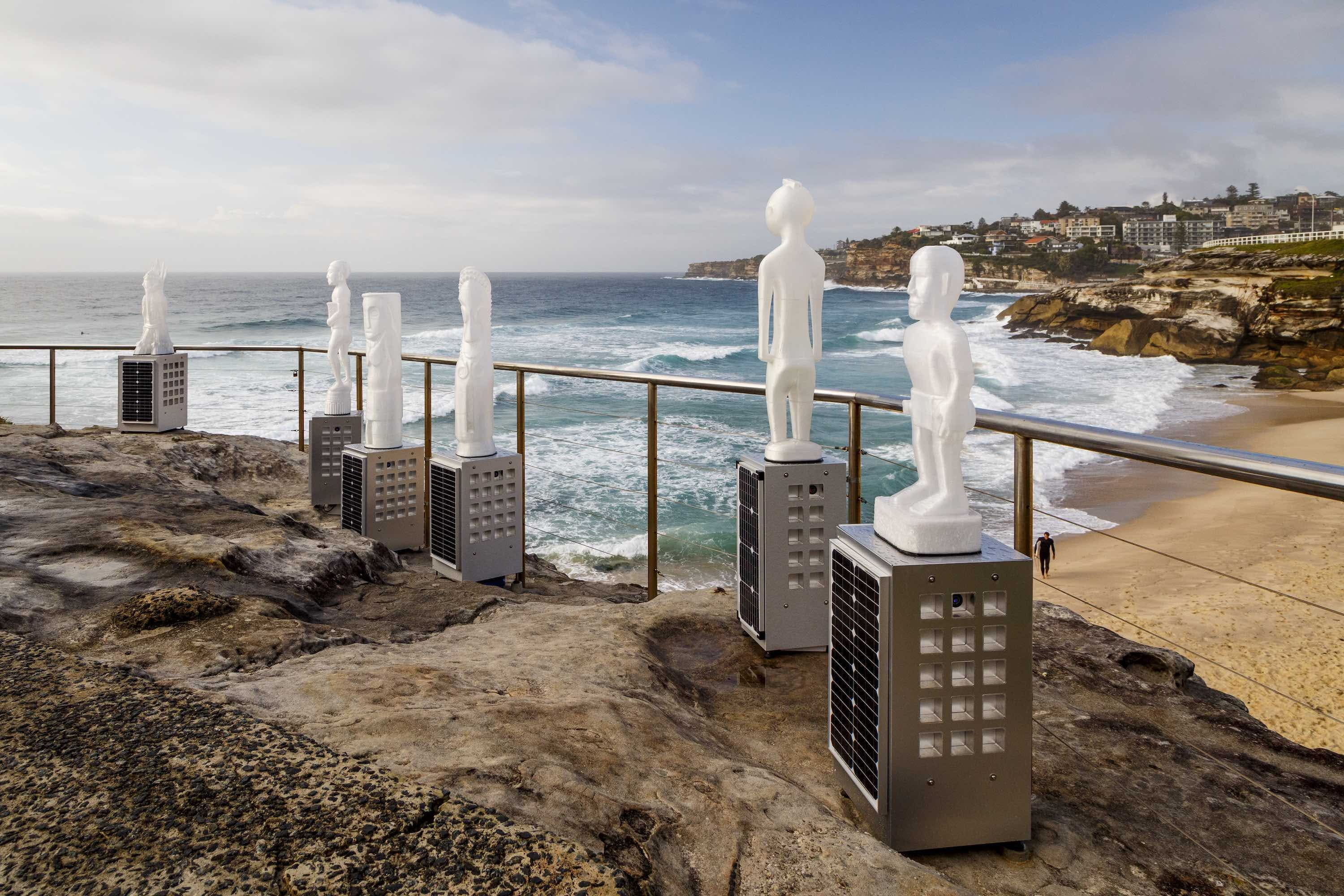 Jeremy Sheehan created a selection of works for the display at Bondi Beach. Image by Jessica Wyld