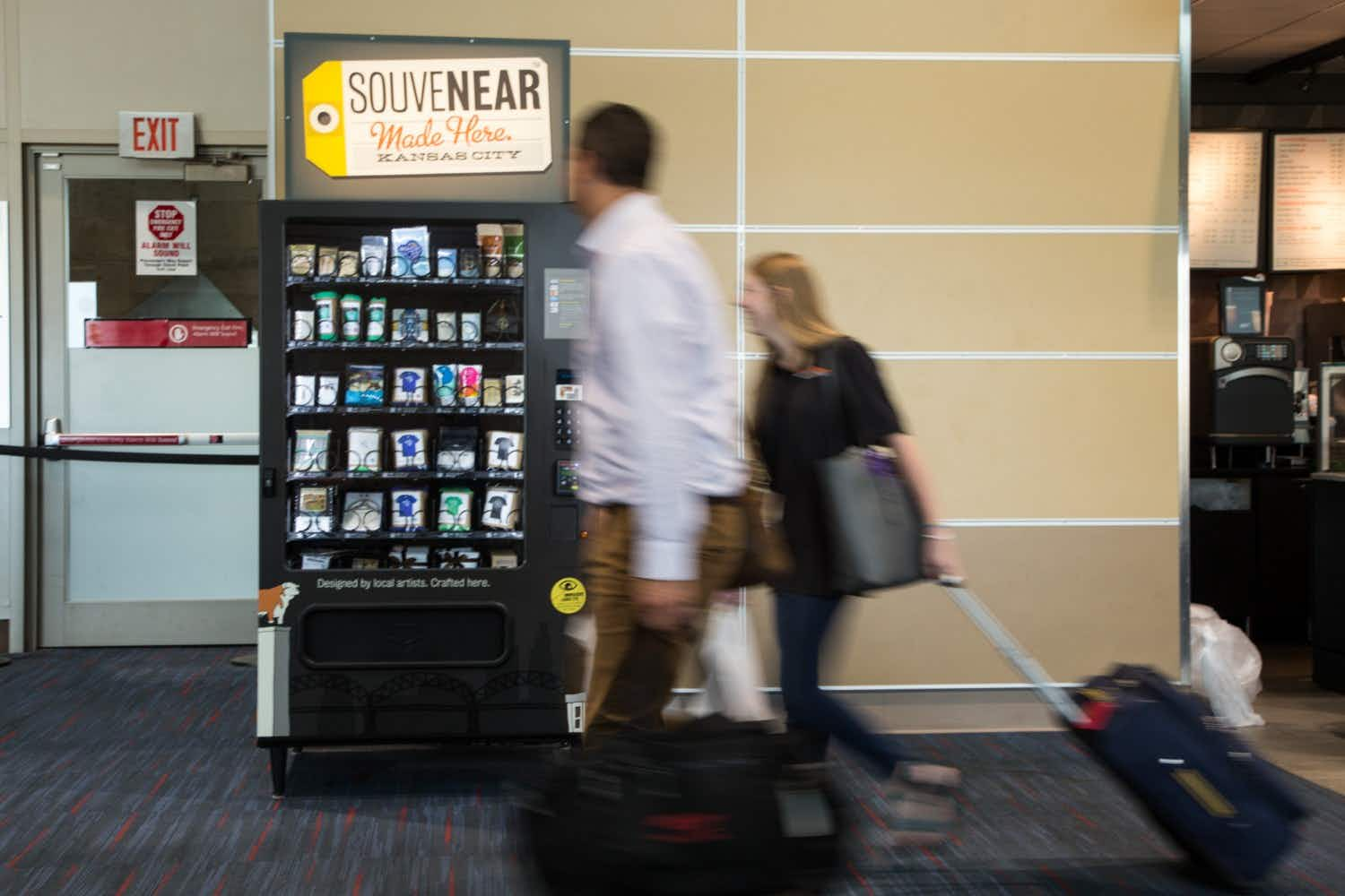 Need a last-minute souvenir? These airport vending machines sell locally-made artisan gifts