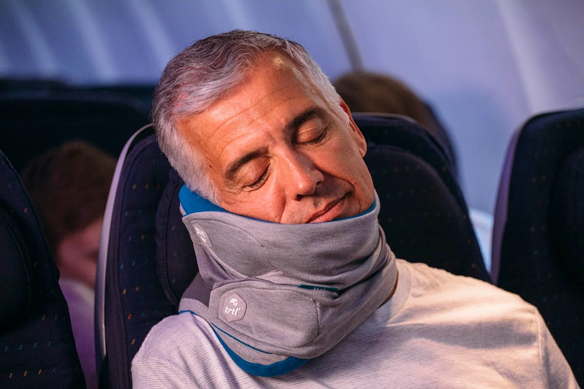 This unusual travel pillow could revolutionise napping on-the-go