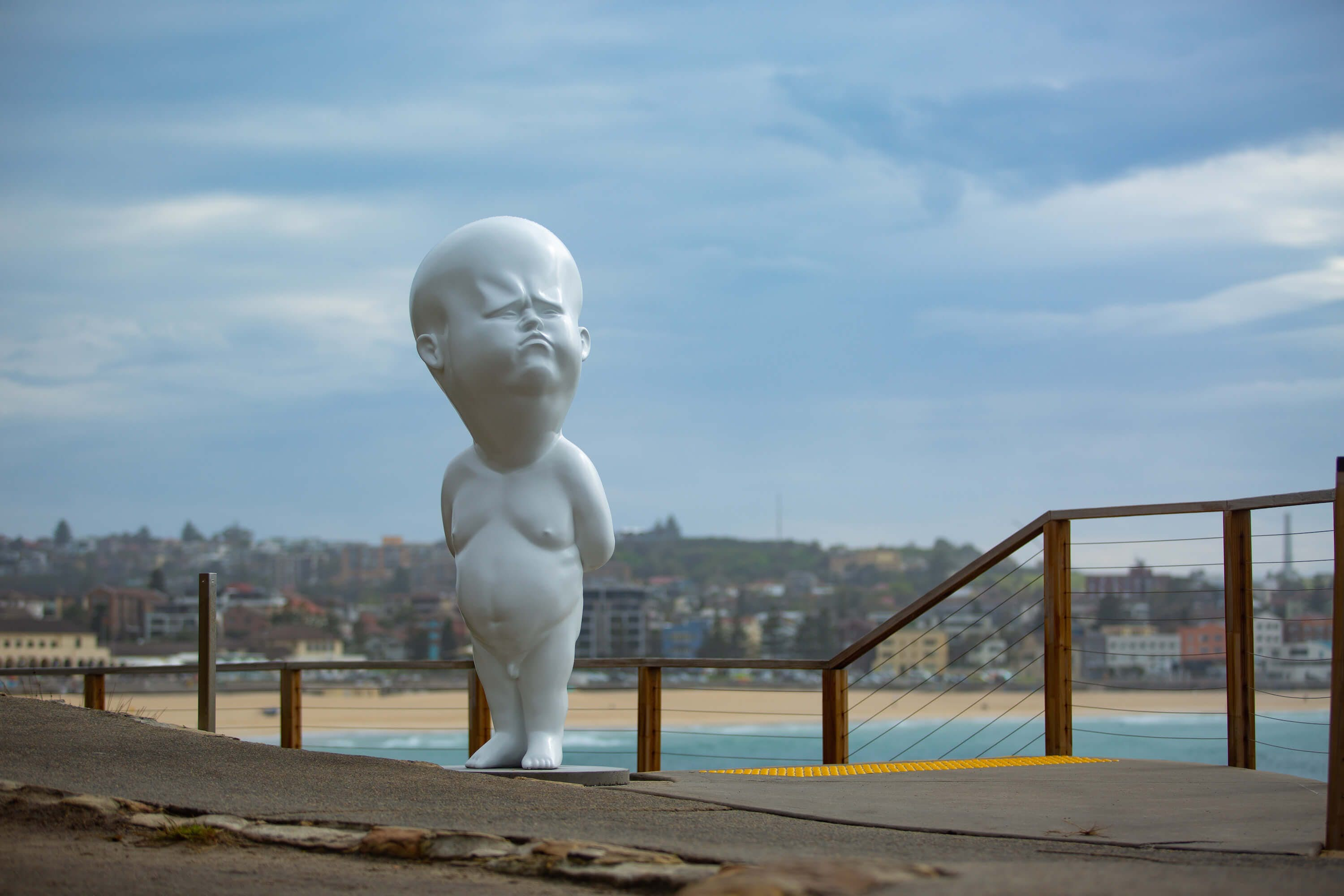 Viktor Freso's work at Sculpture at the Sea. Image by GCarr