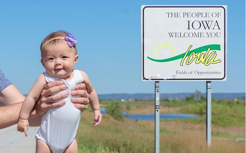 The six-month-old baby who has visited all 50 US states