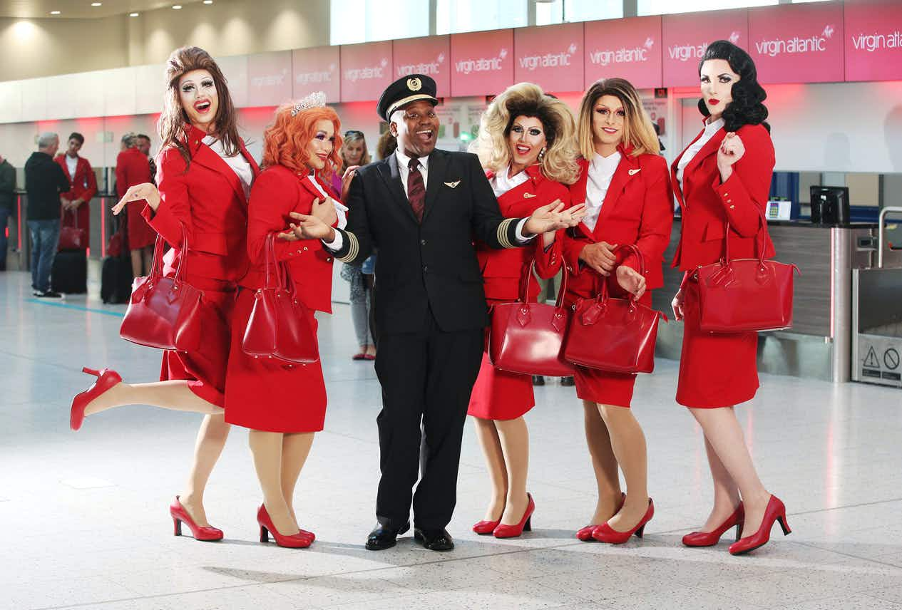 There's going to be a 'Pride Flight' party from London to New York with Tituss Burgess