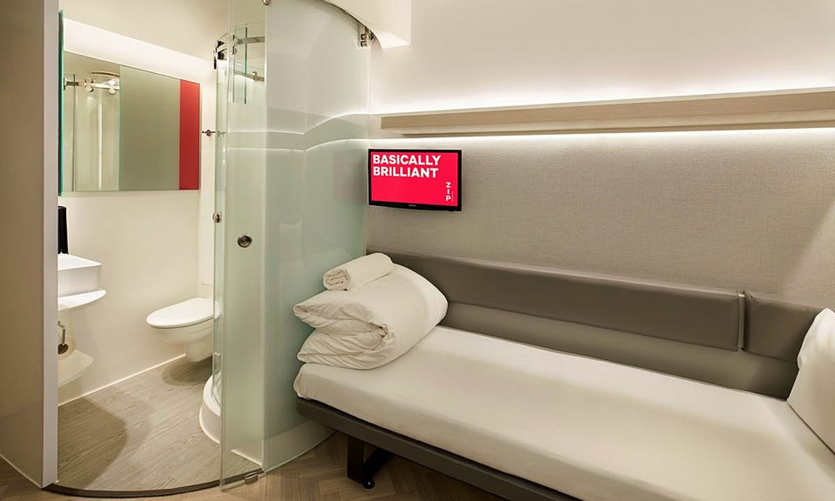 Inside the £19 a night no-frills room from this UK hotel chain