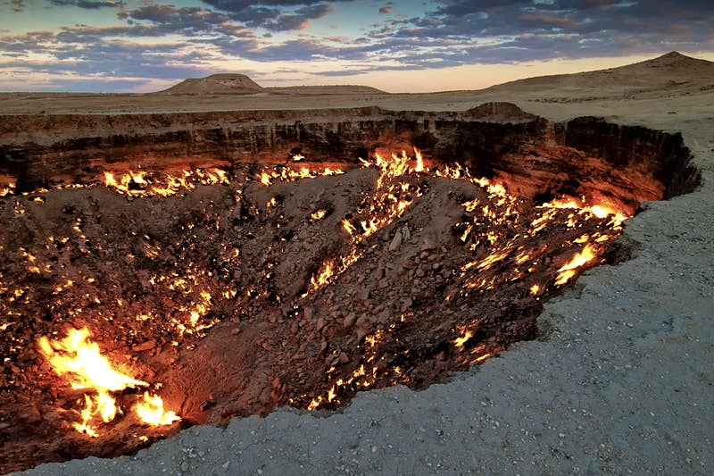 Camp by the 'Door to Hell' on a new photography tour through Central Asia
