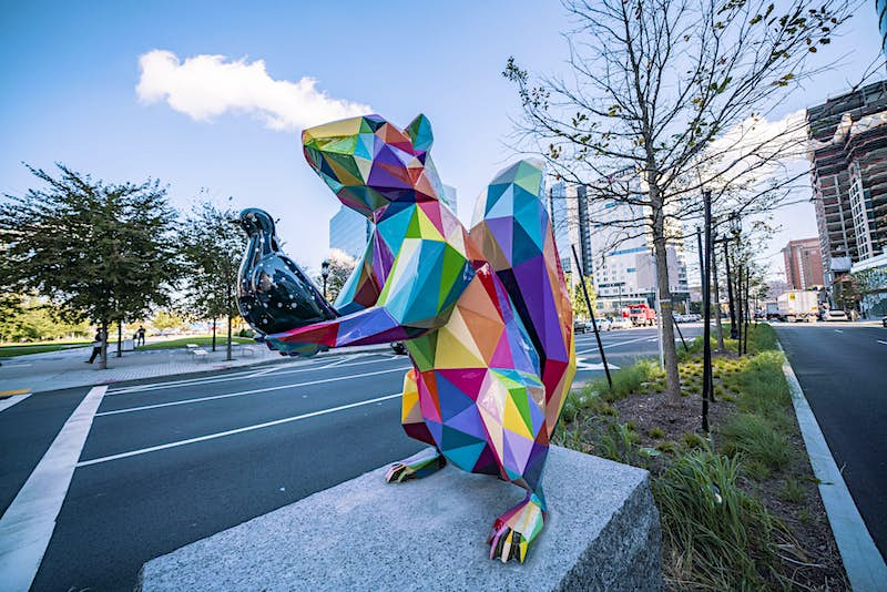 Kaleidoscopic new statues have appeared on Boston's waterfront