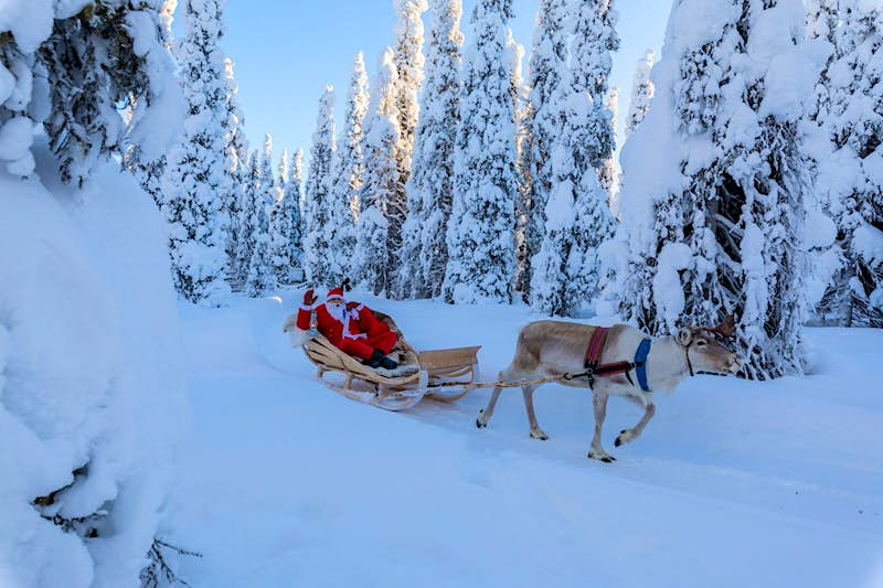 Snow On Christmas.Santa S There But There Isn T Much Snow In Lapland This