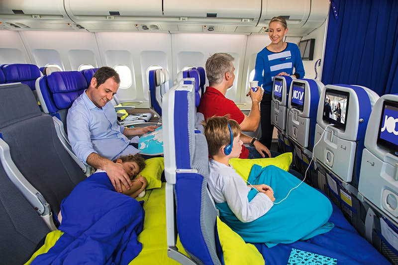The 'airline for millennials' is now offering beds for their kids
