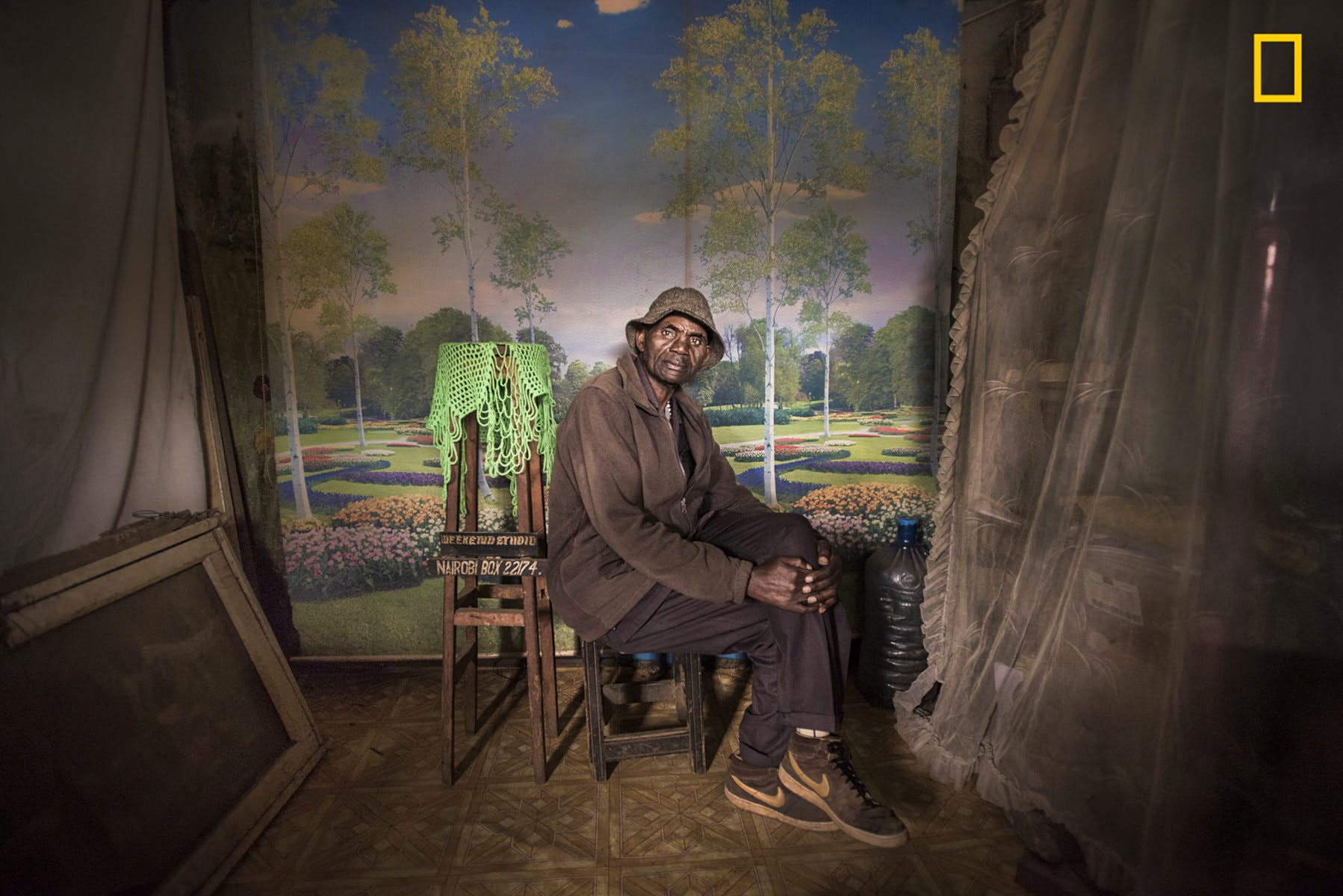 This shot by Mia Collins won the first place in the People category. It was taken in Nairobi, Kenya, and its subject, David Muyochokera, is sitting in his photo studio in his best clothes. Image courtesy of Mia Collins/2018 National Geographic Photo Contest