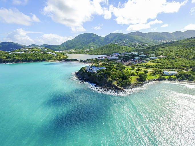 Travel News - Aerial view of Saint Martin Beaches
