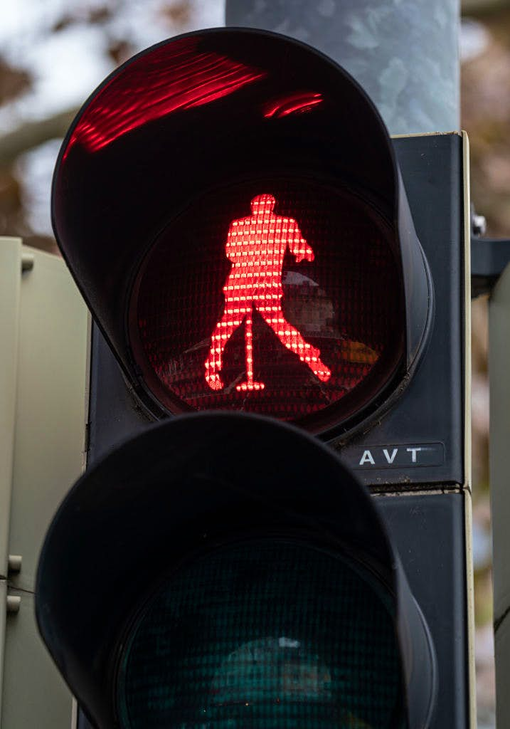 Elvis Presley traffic lights have appeared in a small German