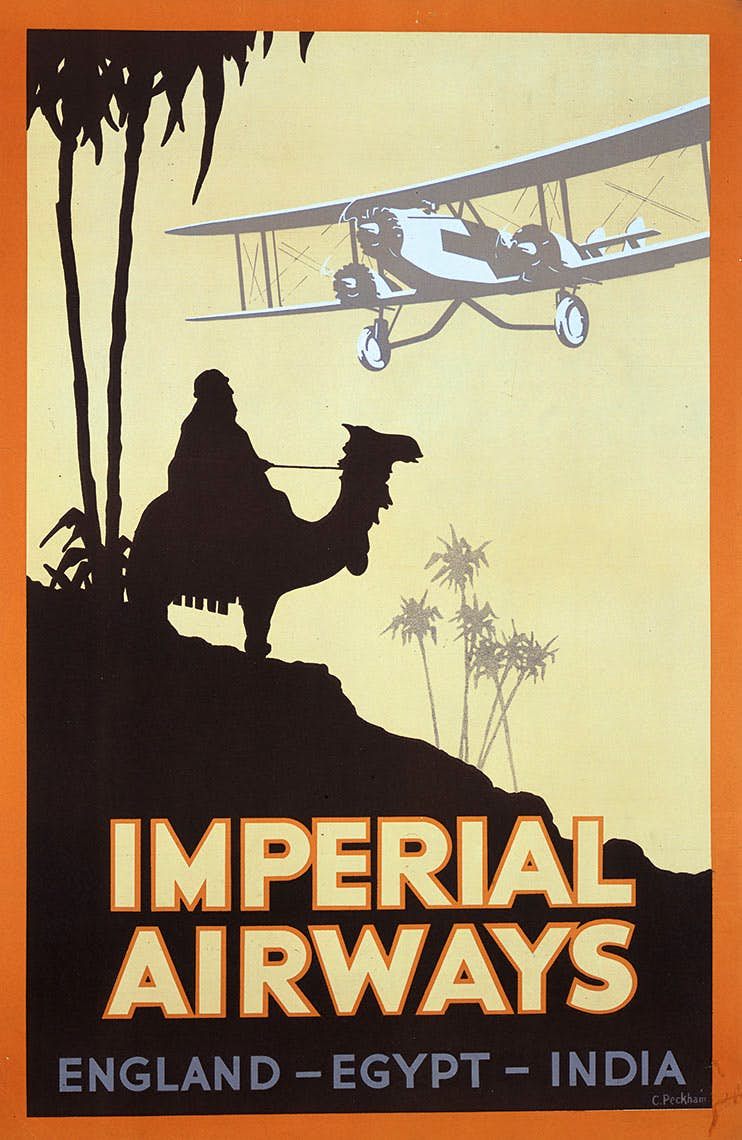 By the early 1930s, Imperial had gotten into its stride and its initial long-haul route development to the Middle East and India was well established. Imperial's advertising also started to become more interesting; this example highlighting Egypt, which was Imperial's Middle East 'hub', used as a base to develop new routes to Africa and the Far East in the early 1930s.