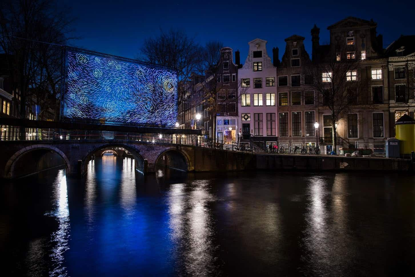 Van Gogh's 'The Starry Night' comes to life in Amsterdam