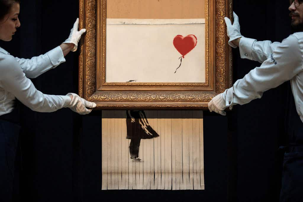 Banksy's infamous shredded painting will be exhibited in February