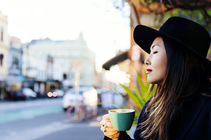 Travel News - Asian woman - fashion street style Fitzroy, Melbourne