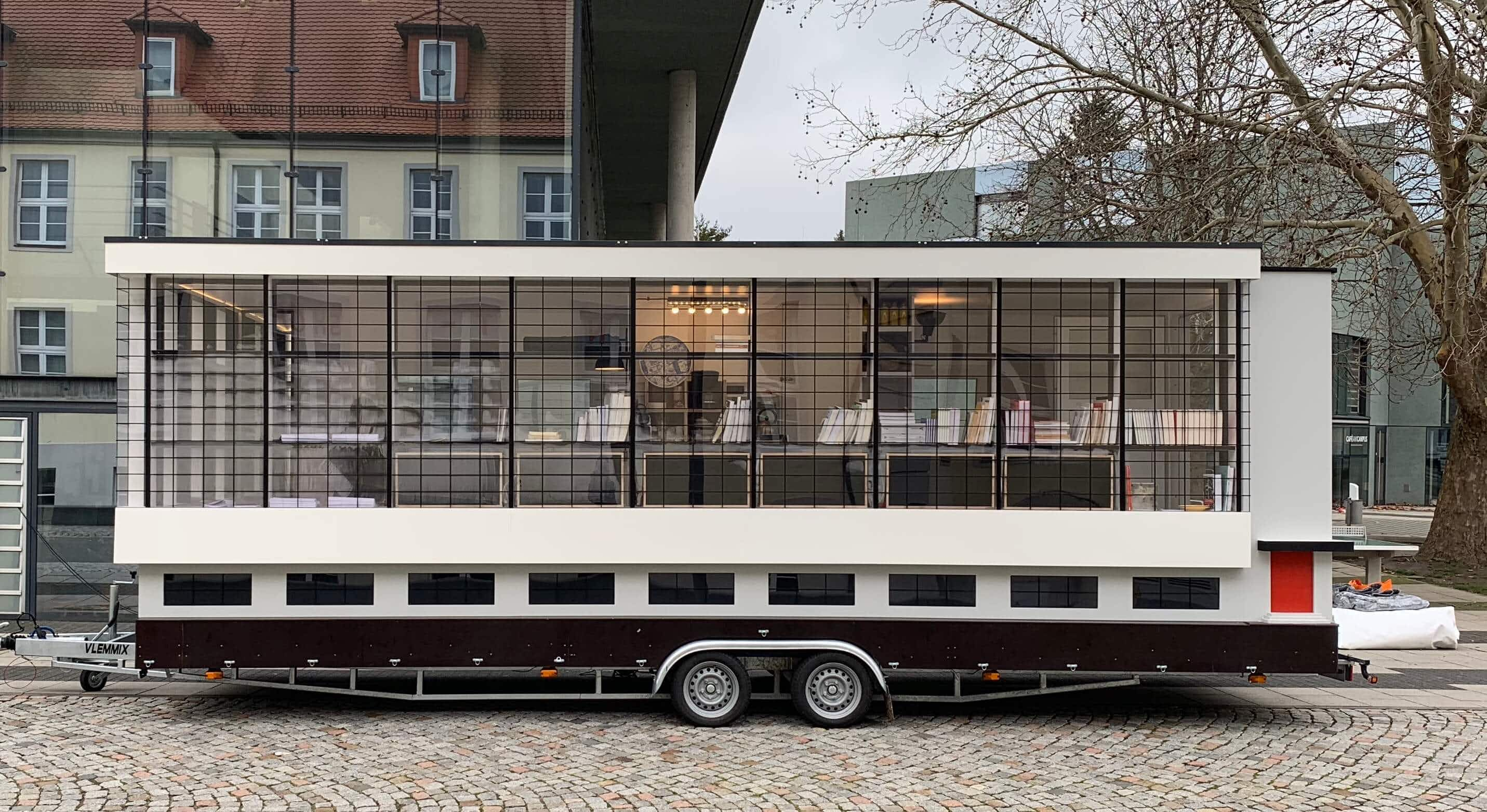 Bauhaus bus travels the world to celebrate school's 100th anniversary with a 'critical twist'