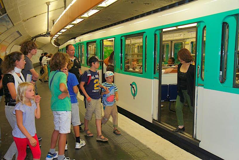 Travel News - Paris, Montmatre Anvers Sacre Coeur Metro Station Line 2 subway public transportation platform