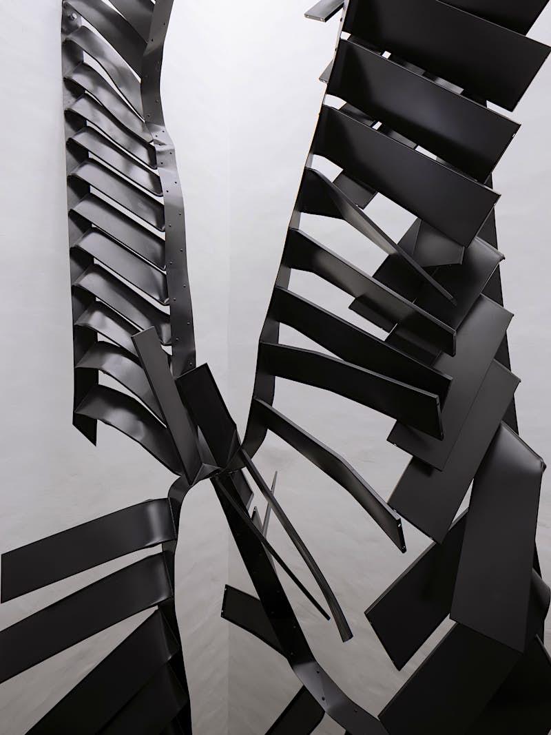 Travel News - Stairs, 2016-17, Monika Sosnowska, courtesy the artist and Muzeum Susch, Art Stations Foundation CH. Photo (c) Studio Stefano Graziani, Muzeum Susch, Art Stations Foundation CH