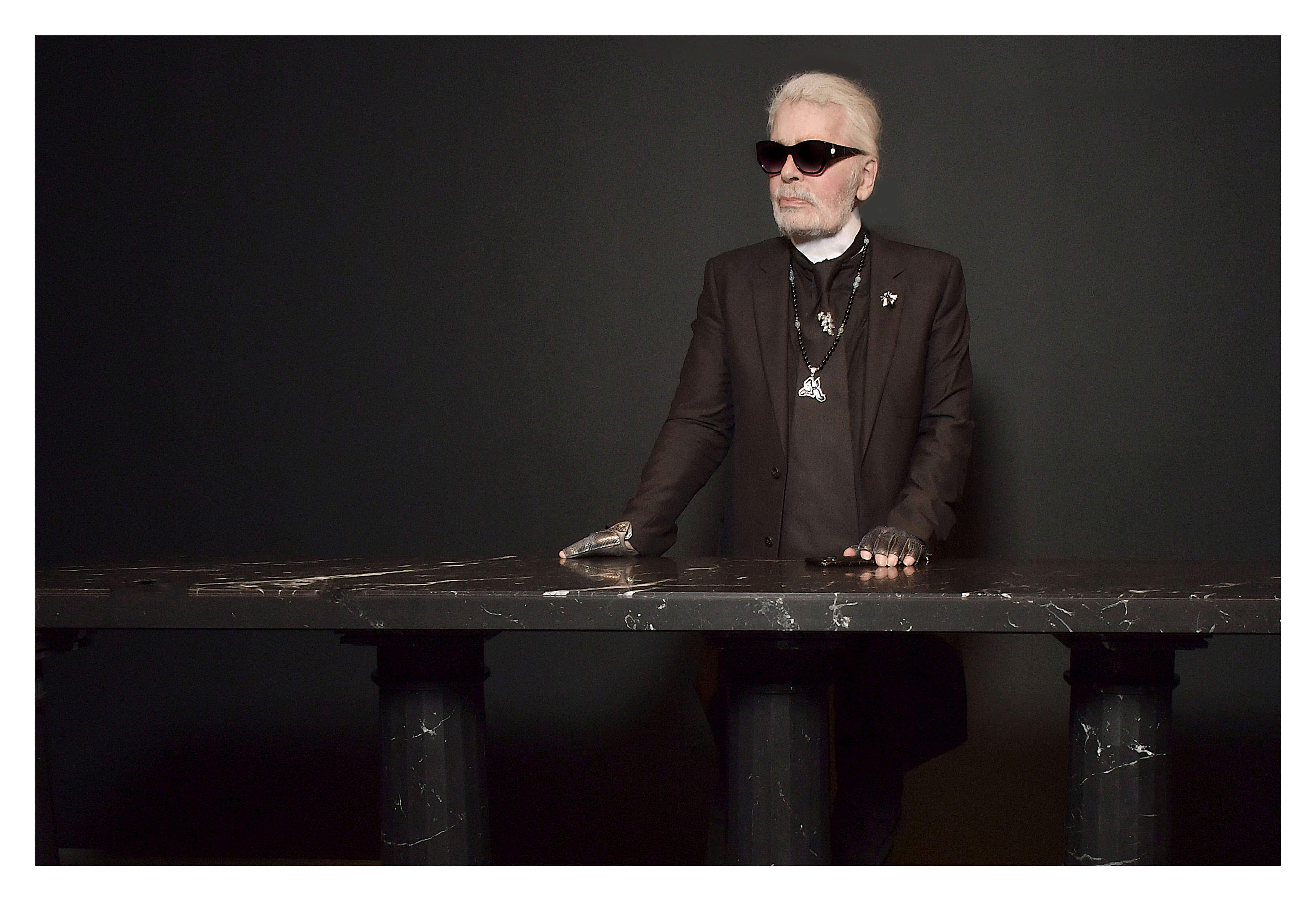 Karl Lagerfeld's collection of sculptured furniture is on display in London