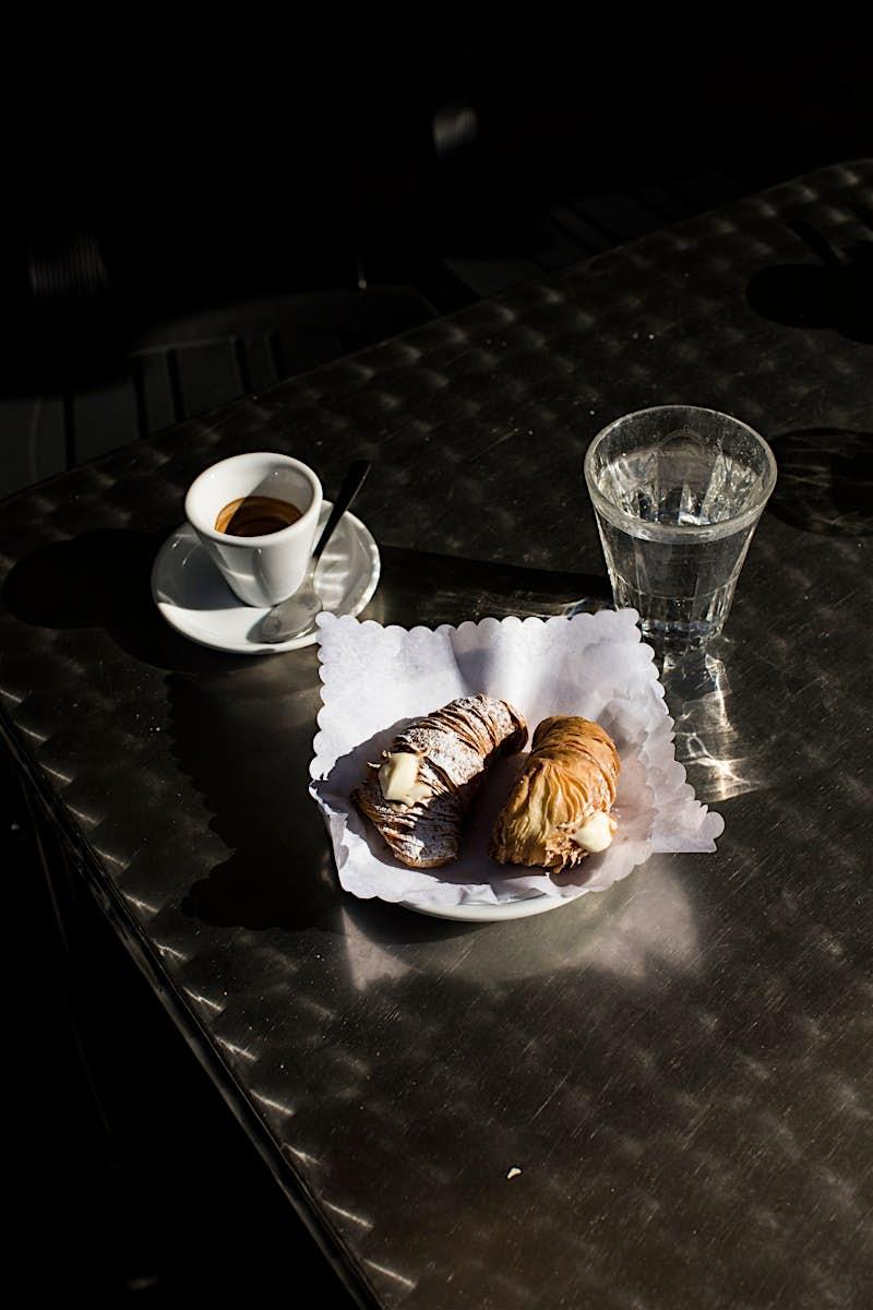 Travel News - A Roman breakfast – an espresso and cornetto – served at Pasticceria Linari.