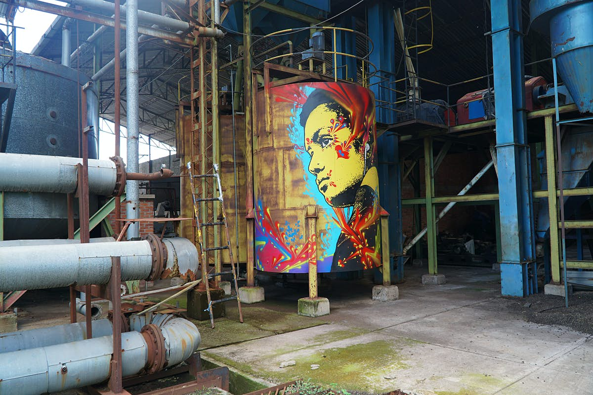 An abandoned Colombian rum distillery is turned into graffiti museum
