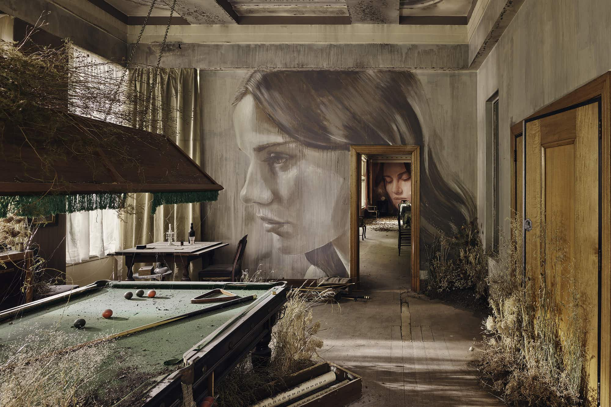 An abandoned mansion in Australia has been transformed into an art gallery