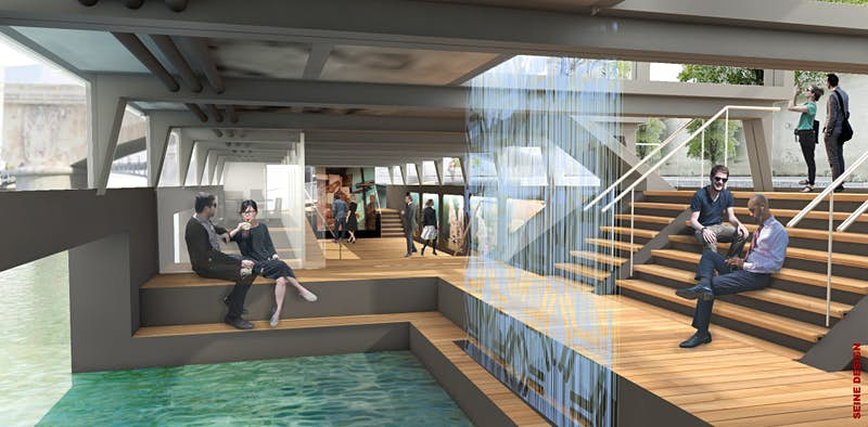 This floating art centre will change Paris' Seine forever