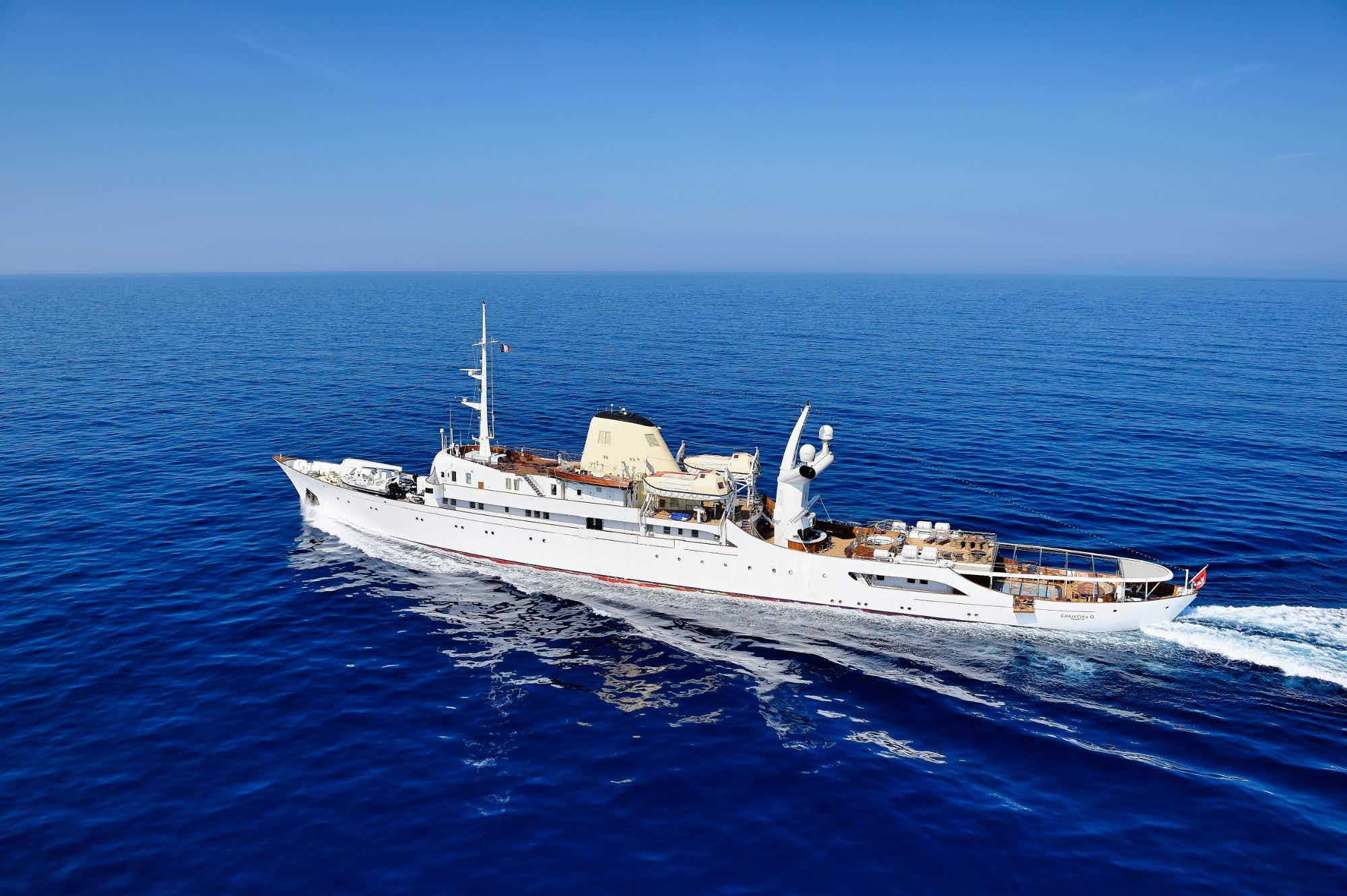 Sail the high seas this summer on Jacqueline Kennedy Onassis' former yacht