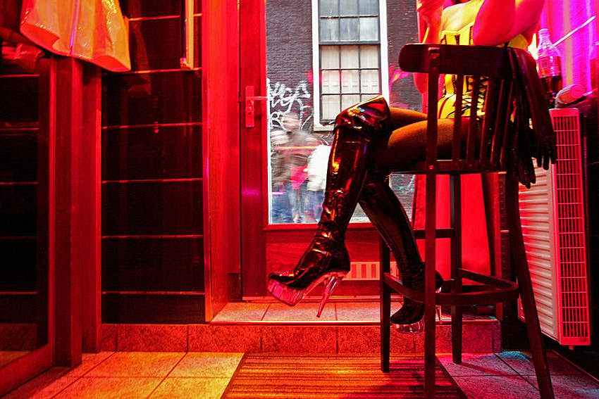 Travel News - A German prostitute, called Eve, waits f