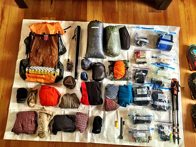 Tim's equipment for the six-month journey.