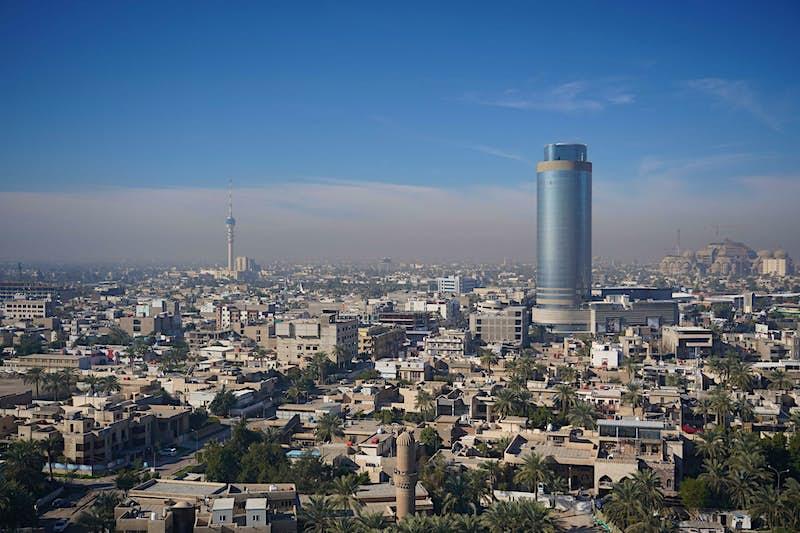 An aerial view of Baghdad.