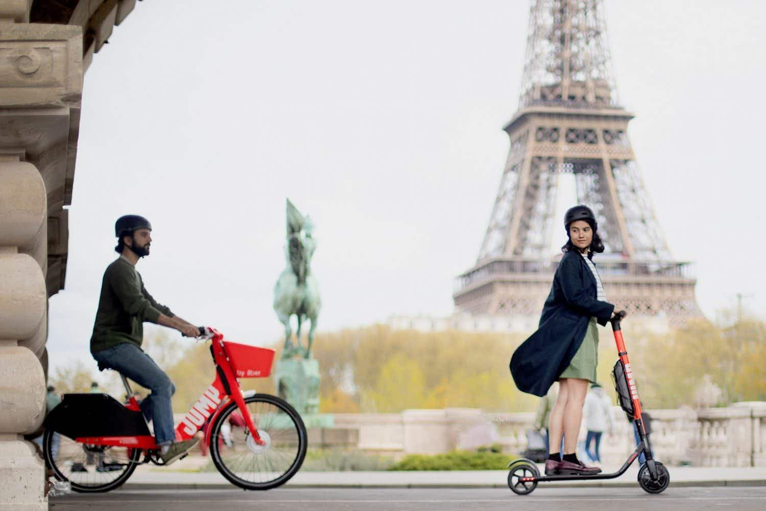 Travellers to Madrid and Paris can avail of Uber's electric scooter rental scheme