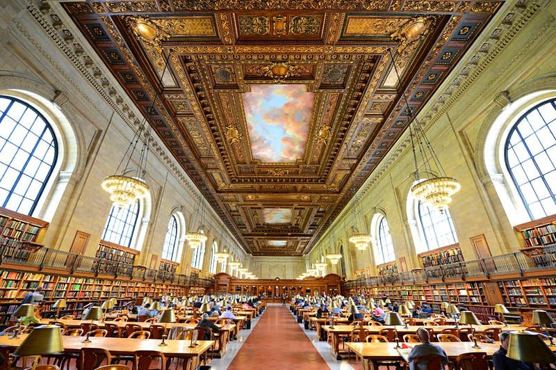 The historic Rose Reading Room on Fifth Avenue and 42nd Street.
