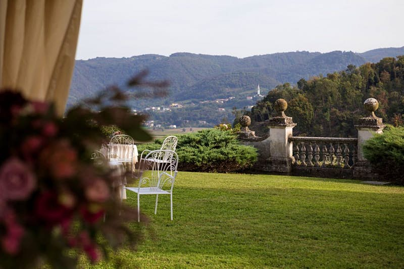 The gardens at Villa Michelangelo in Italy
