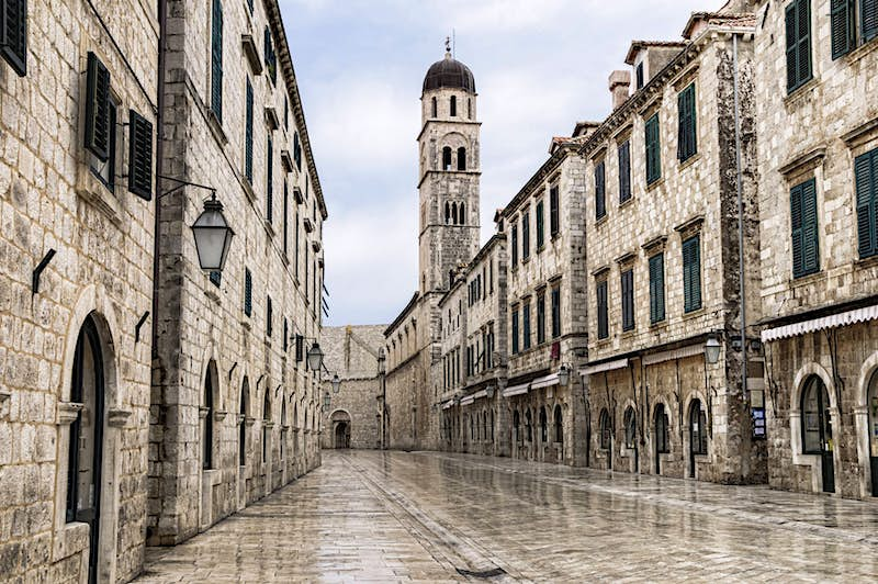"""The Last Jedi introduced us to the galactic gambling city of Canto Bight, played brilliantly by the Croatian city of Dubrovnik. The """"Pearl of the Adriatic"""" is no stranger to famous fictional roles, since it's been playing the role of King's Landing, the capital of the Seven Kingdoms, since the first season of Game of Thrones. Photo by OGphoto/Getty Images"""