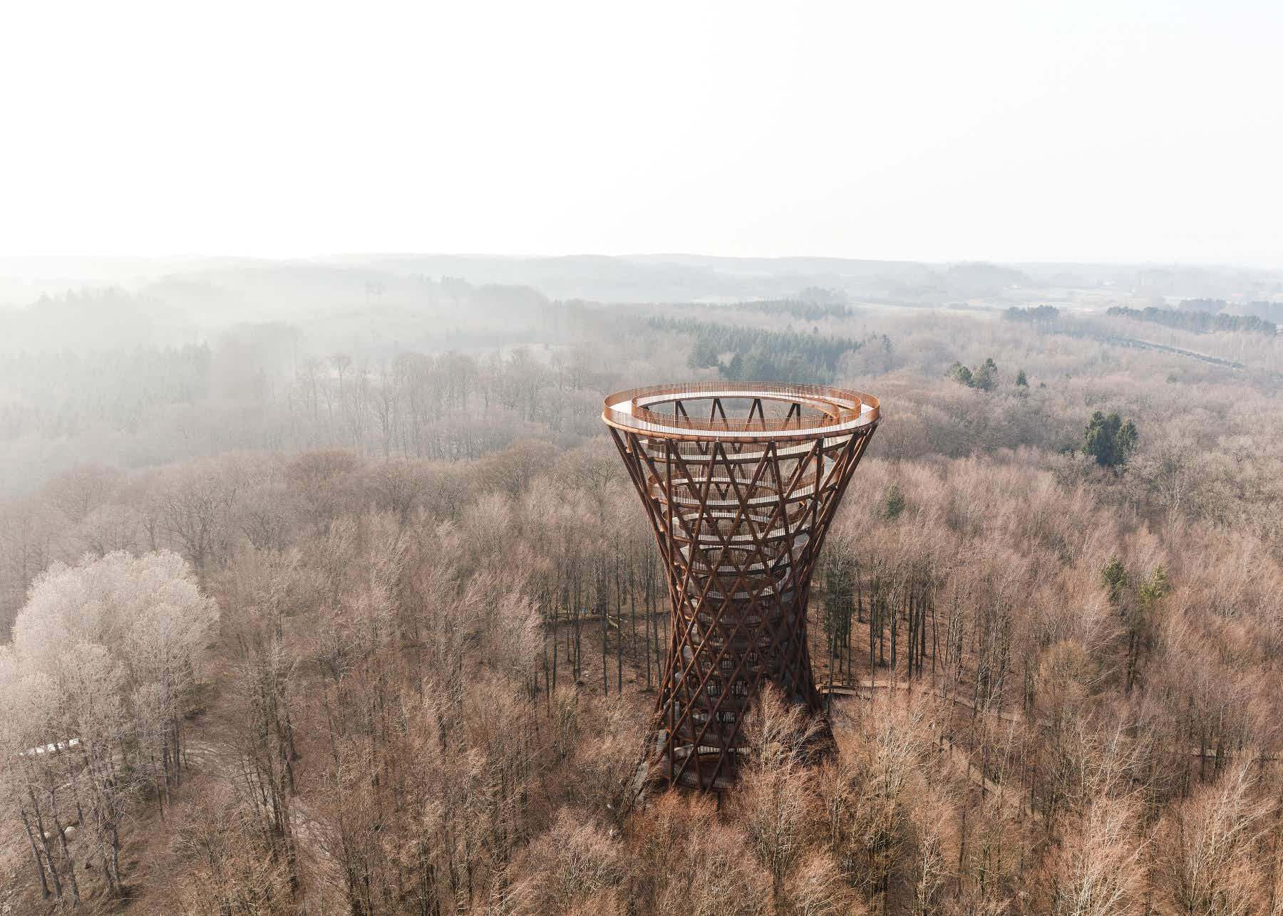 Denmark's spiral forest tower is finally open and it's spectacular