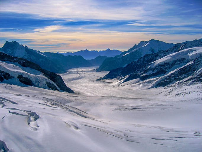 The mountains around Grindelwald, in Switzerland, were used as scenery for Princess Leia Organa's doomed planet, the beautiful Alderaan. Photo by Thomas Wegner/EyeEm/Getty Images