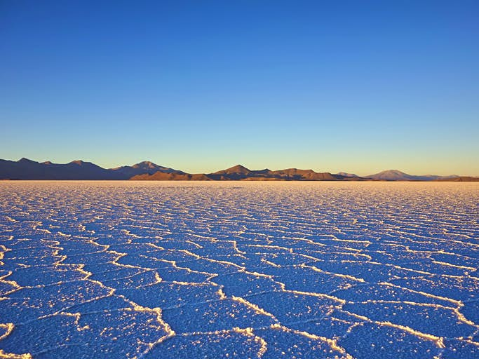 The final battle of The Last Jedi takes place on planet Crait, with its striking red sand. While Bolivia's Salar de Uyuni, where the scenes were filmed, might not have the red sand, it's still equally as striking— it's the largest salt flat in the world, after all. Photo by Westend61/Getty Images