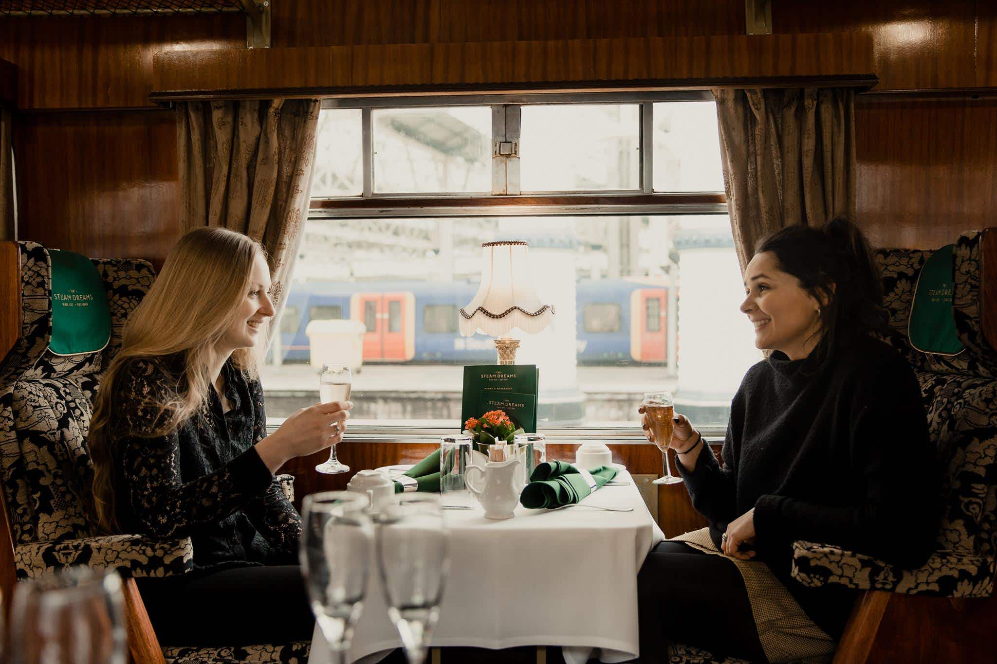 Journey in style with champagne on a steam train from London to Royal Windsor